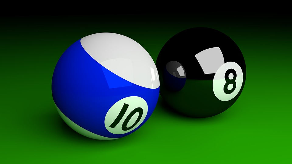 Balls, Billiards, Play, Table, Company, 3d, Rendering