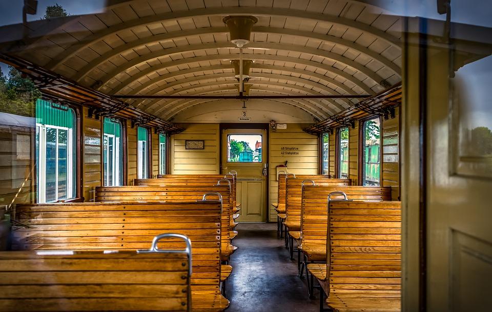 Train, Wagon, Compartment, Interior, Railway, Transport