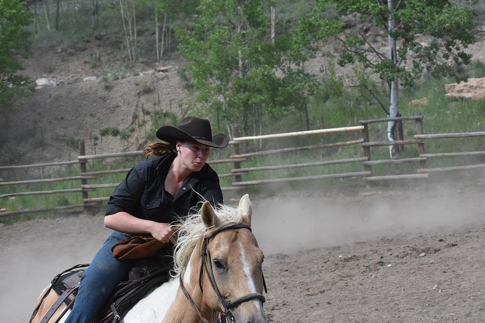 Cowgirls, Rodeo, Competition, Horse, Western, Riding