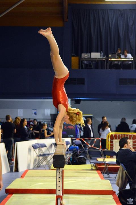 Competition Gymnastics Sport Beam Gym