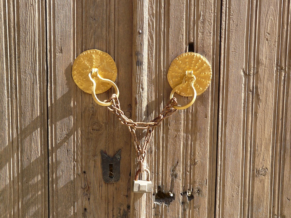 Padlock, Goal, Input, Wooden Gate, Completed, Chain