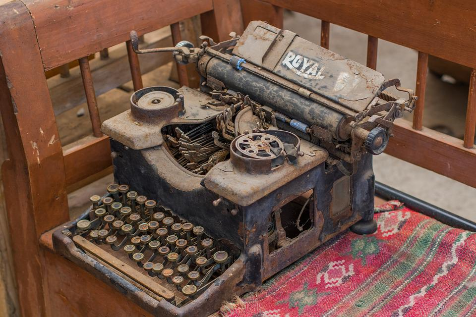 Typewriter, Old, Dust, Vintage, Decorative, Complexity