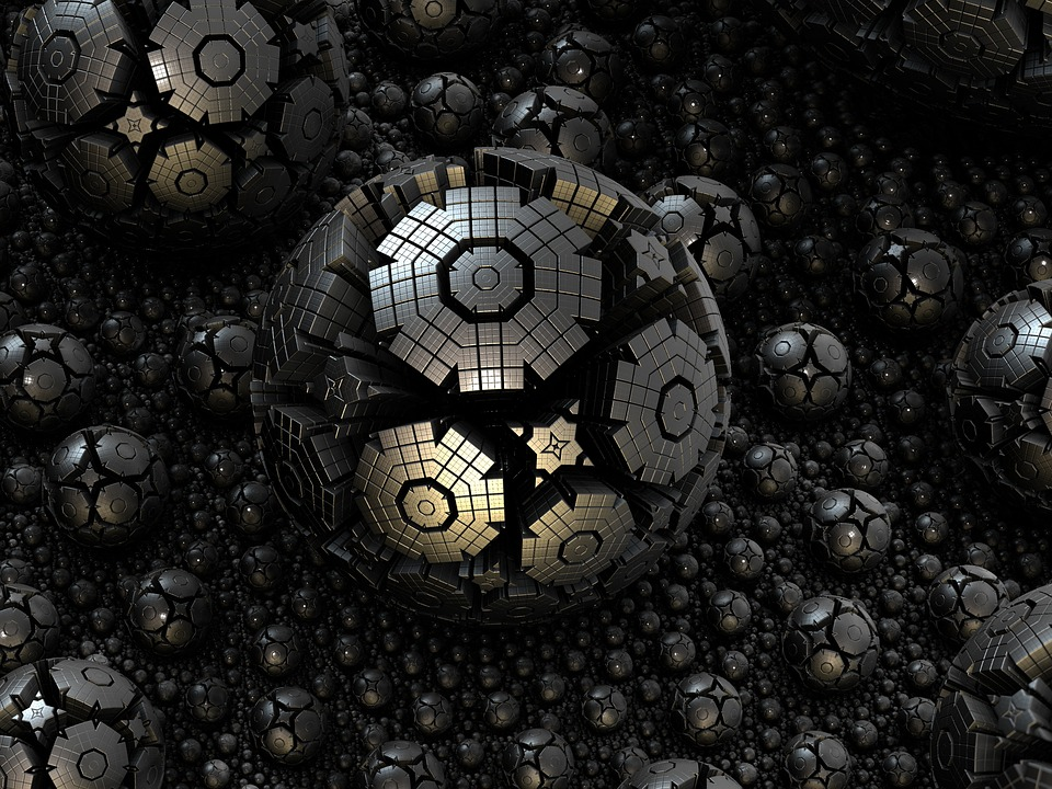 Fractal, Sphere, Steel, 3d, Structures, Complicated