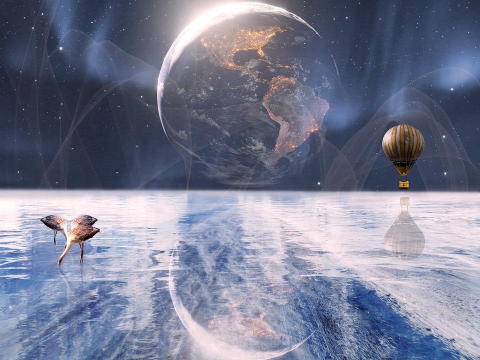Fantasy, Composite, Science Fiction, Reflection