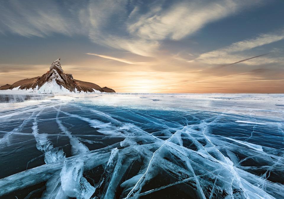 Composite, Fantasy, Ice, Snow, Frozen Lake, Nature