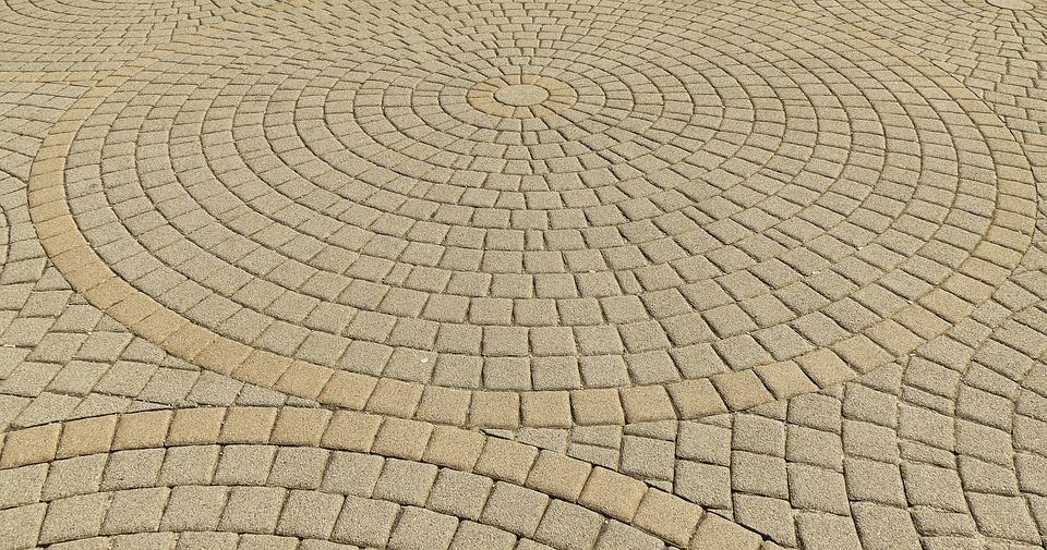 Patch, Paving Stones, Circle, Round, Composite Stones