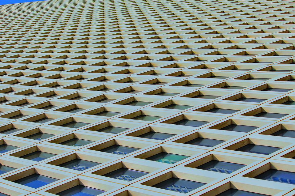 Building, Israel, Tel Aviv, Windows, Composition, Lines