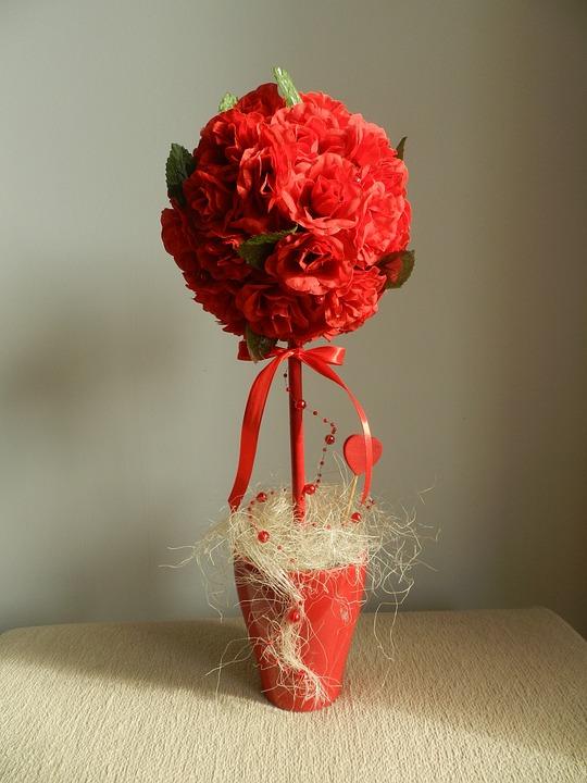 Woman, Handicraft, Flowers, Decoration, Composition