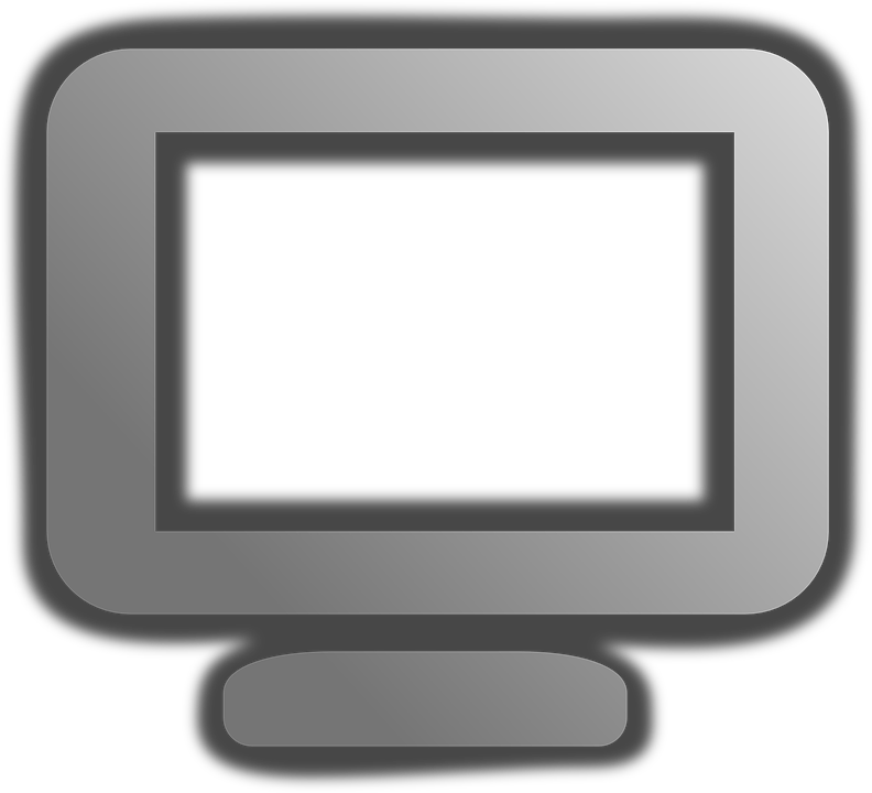 Computer, Grey, Monitor, Display, Screen