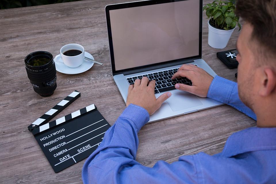 Filmmaker, On The Laptop, Computer, Macbook, Film
