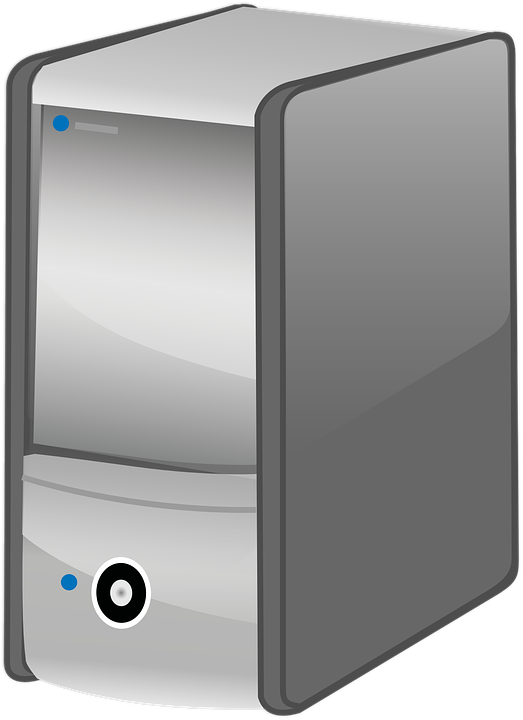 Pc, Computer, Pc Tower, Calculator, Black, Grey, Icon