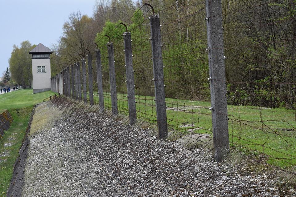 Fence, Concentration Camp, Prison, Dachau, Germany, War