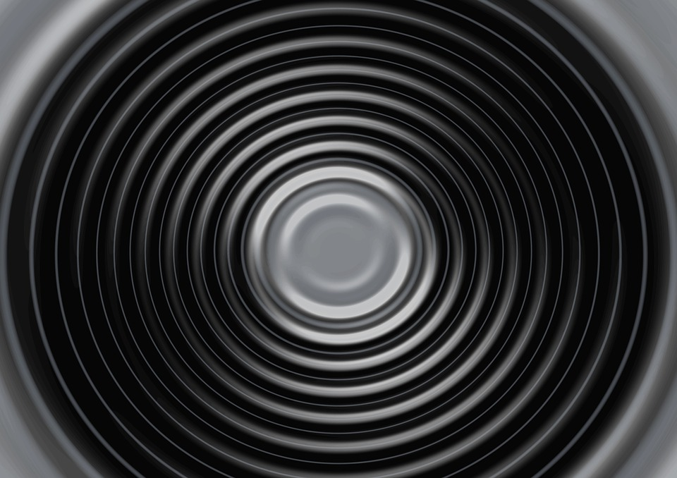 Wave, Black, White, Concentric, Waves Circles