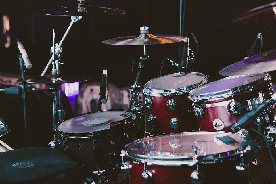 Drum Set, Drums, Musical Instruments, Band, Concert