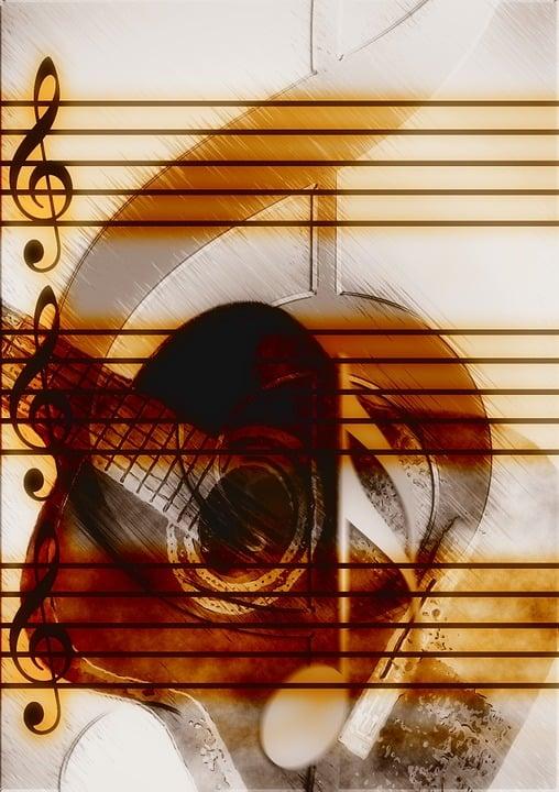 Music, Guitar, Treble Clef, Sound, Concert, Musician