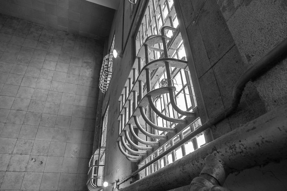 Architecture, Monochrome, Indoors, Concrete, Alcatraz