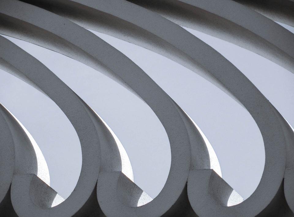 Concrete, Shapes, Wall, Design, Architecture