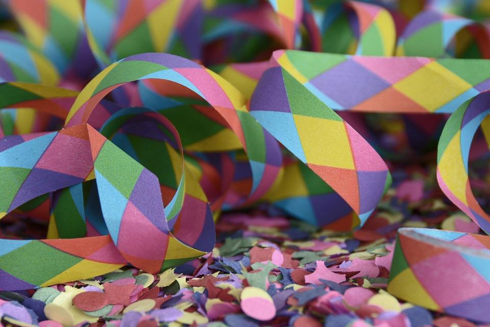 Streamer, Confetti, Carnival, Party, Colorful