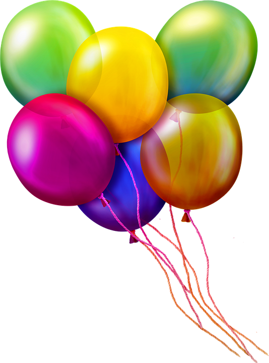 Balloons, String, Confetti, Balloon, Birthday