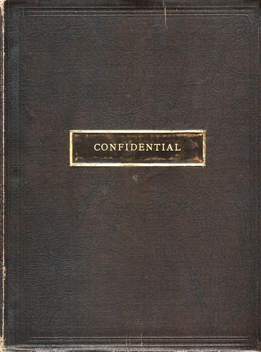 Confidential, Cover, Vintage, Secrecy, Private
