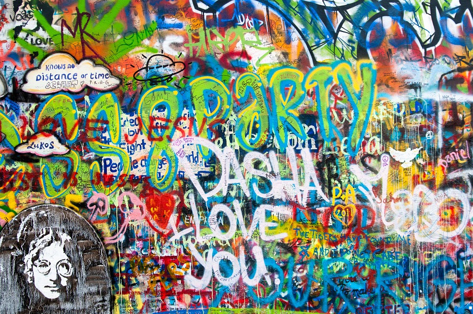 Graffiti, John Lennon Wall, Wall, Prague, Conflict