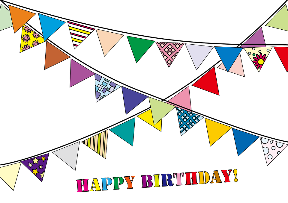 Party Garland, Garland, Flag, Congratulations, Birthday
