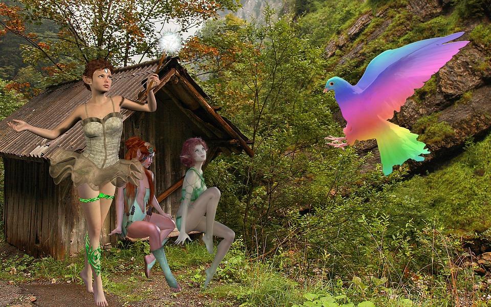 Fantasy, Elves, Dove, Conjure, Fairytale