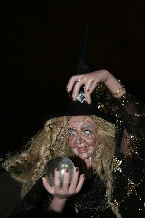 The Witch, Glass Ball, Conjure, Fortune Telling, Ugly
