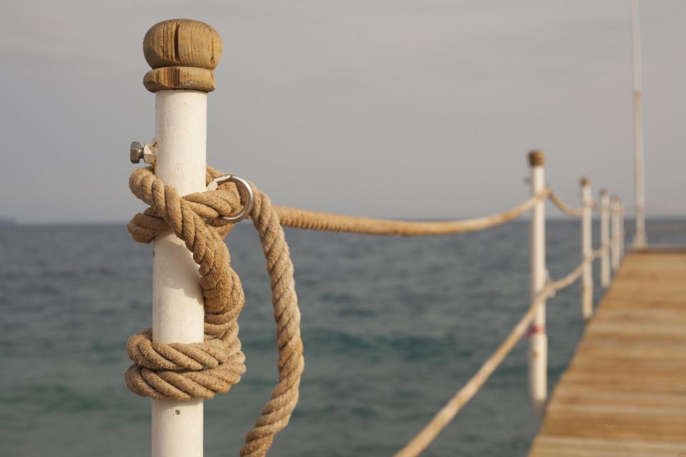 Iskele, Rope, Marine, Landscape, Composition, Connect