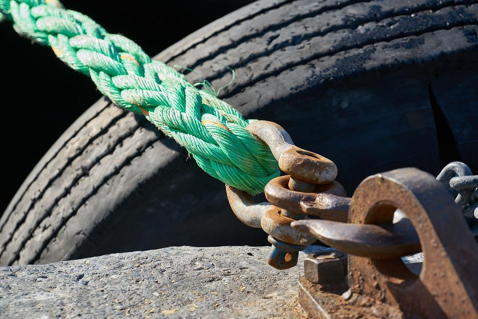 Rope, Solid, Old, Daniel, Port, Ship, Connect, Marina