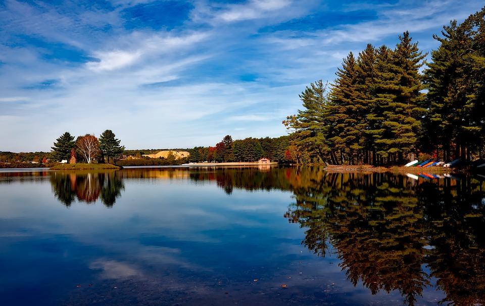 Dunning Lake, Farmington, Connecticut, Sky, Clouds