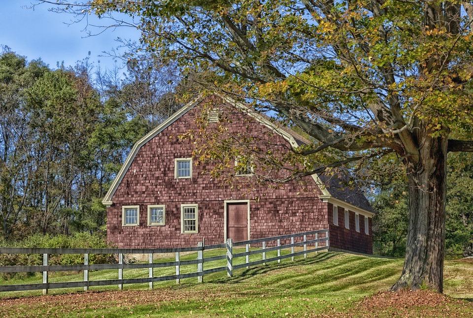 Litchchfield, Connecticut, Farm, Rural, Barn, Trees