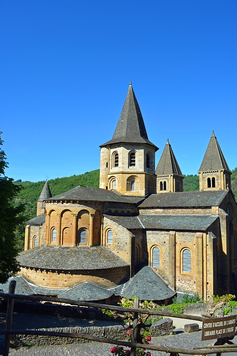 Conques, Aveyron, Abbey, Church, Village, Pilgrimage