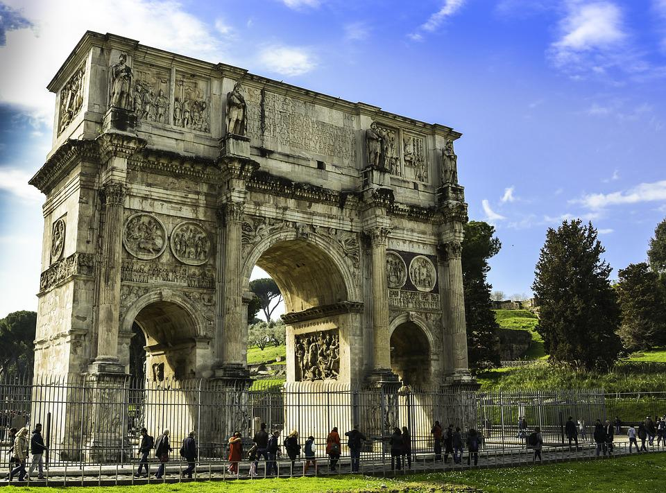 Constantine, Arc, Architecture, Italy, Rome, Ancient
