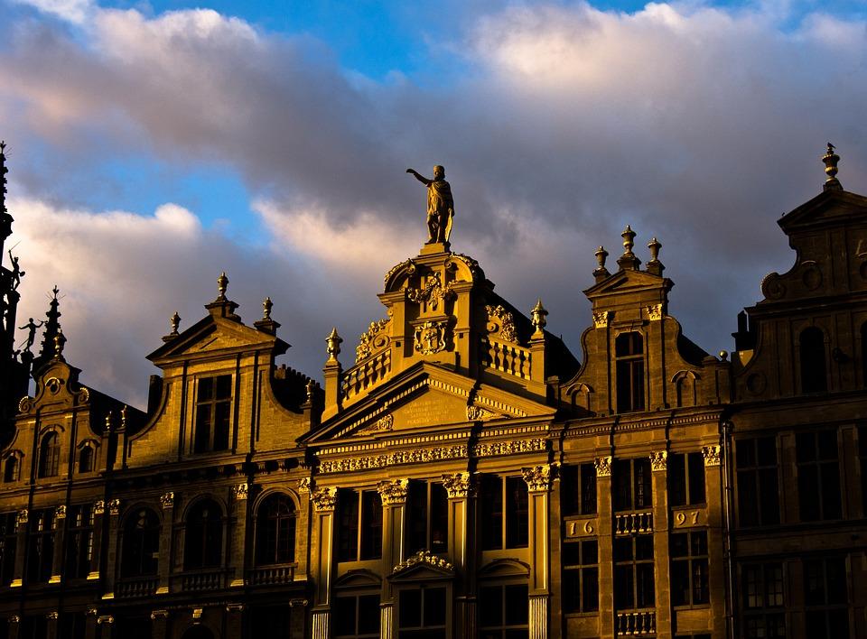 Brussels, Belgium, Europe, Capital, Plaza, Construction