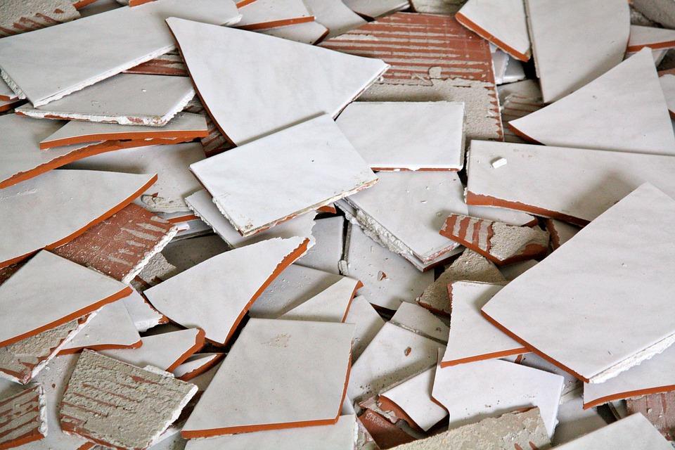 Tiles, Broken, Broken Tiles, Construction, Material