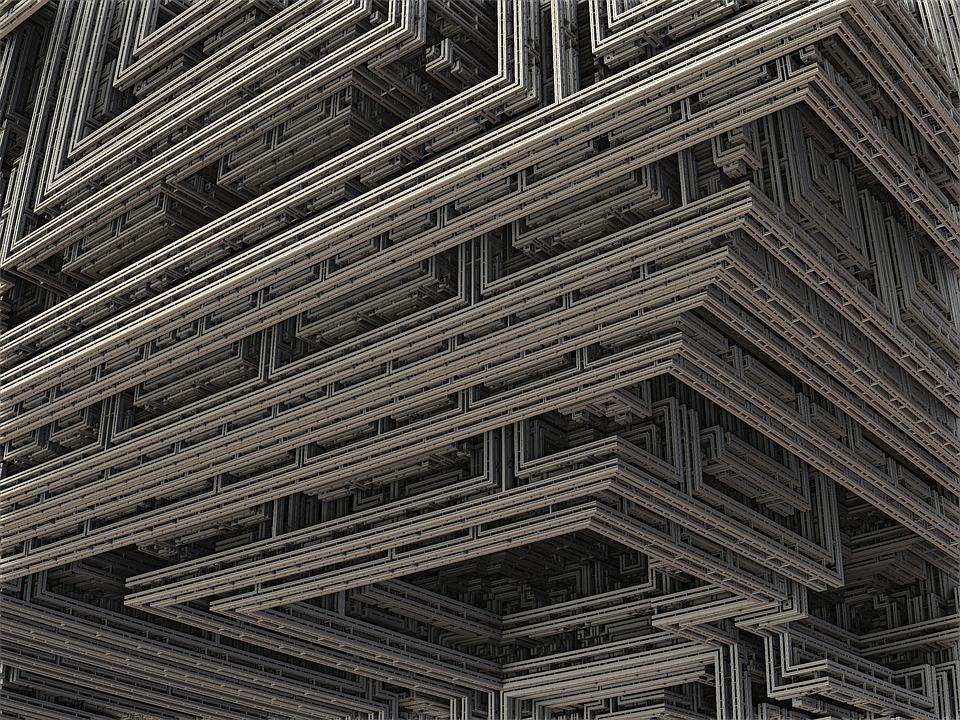 Fractal, 3d, Construction, Industry, Design, Build