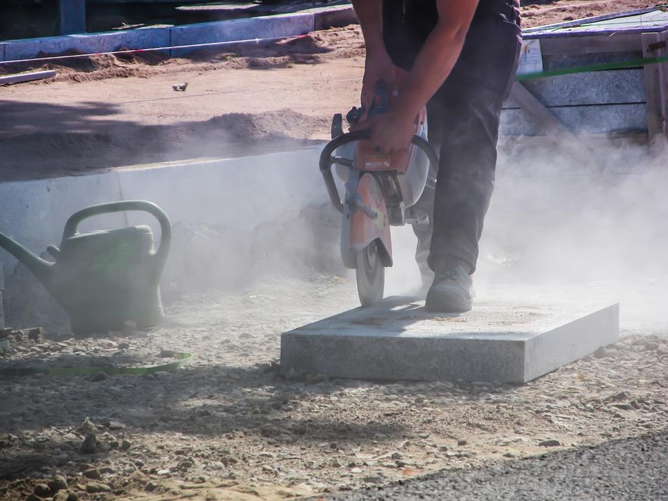 Construction, Road Construction, Stones, Cut, Dust