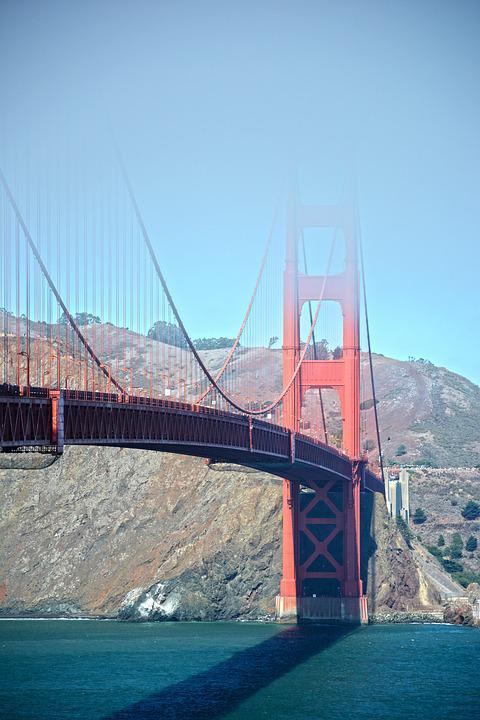 Golden Gate Bridge, Suspension Bridge, Construction