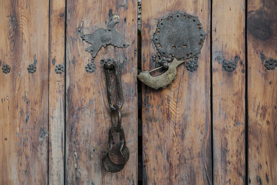 Gate, Hanok, Korea, Moon, Construction, Wood