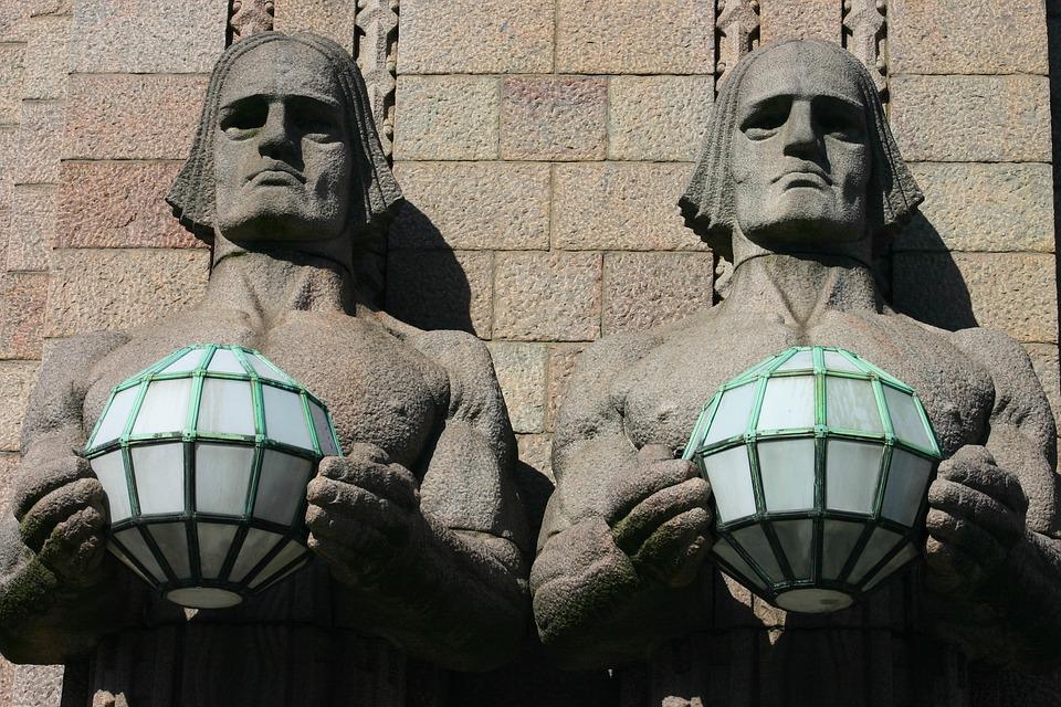 Sculpture, Architecture, City, Construction, Male