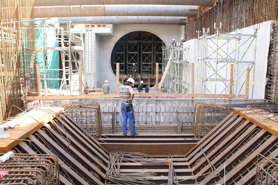 Construction Site, Hydroelectric Power Plant, Canal