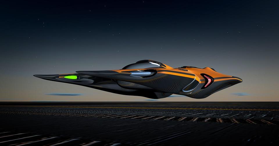 Spaceship, Raumgleiter, 3d-model, Construction, Drive