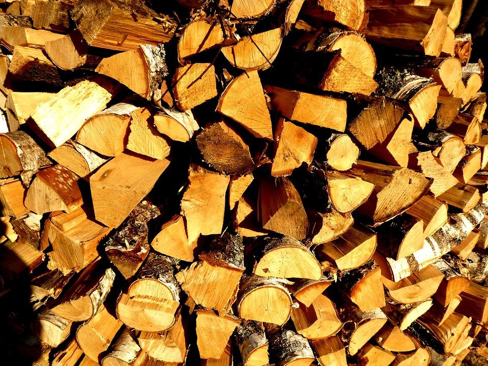 Construction, Bath, Firewood, Billet, Birch, Splint