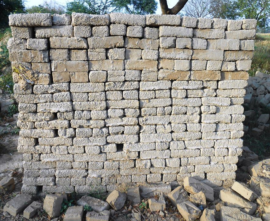 Bricks, Stacked, Construction, Building, Architecture