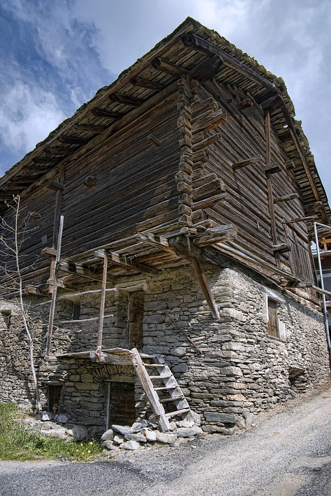 Construction, House, Wood, Brick, Rascard, Stairs