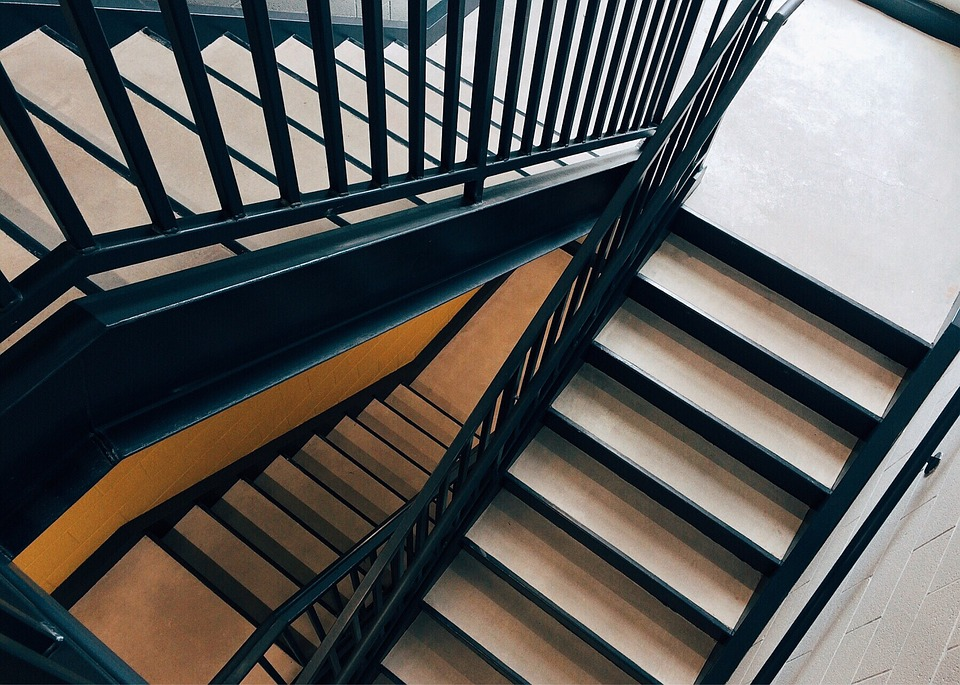 Stairs, Stairwell, Staircase, Construction, Building