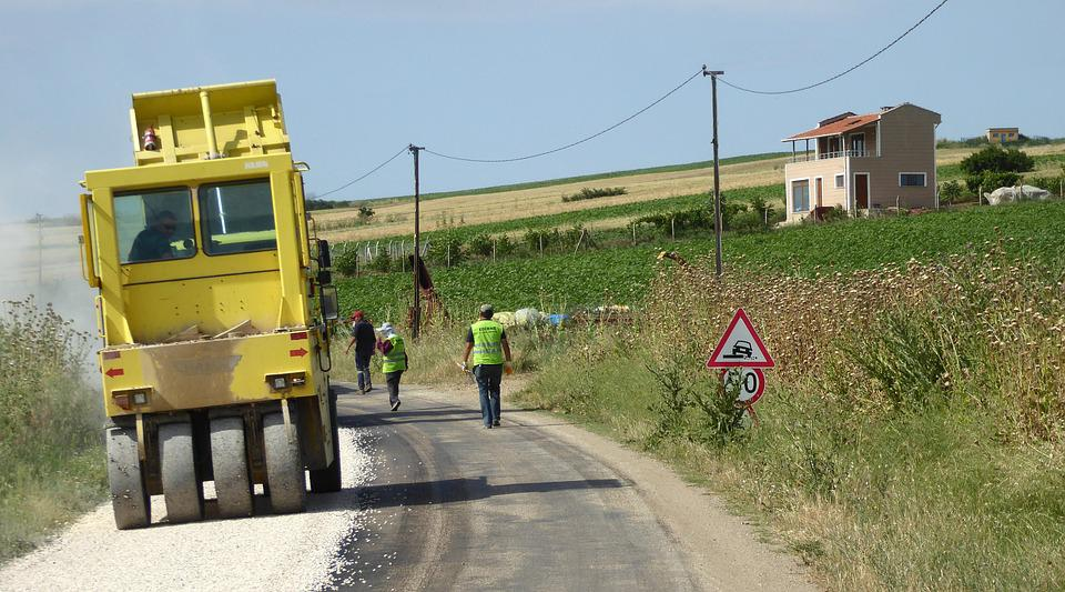 Work, Road, Construction, Patch, Traffic, Machine, Hard