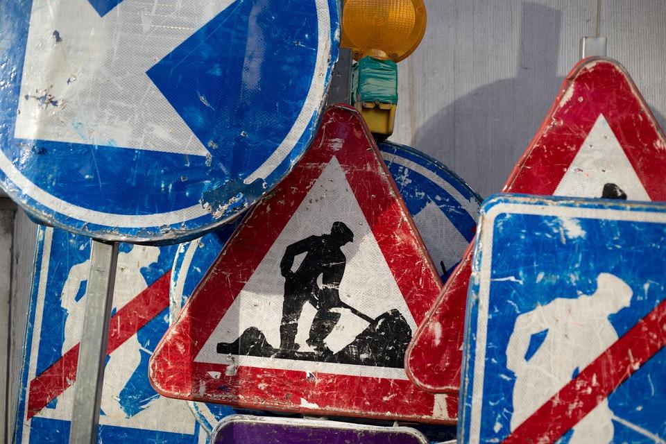 Construction, Work, Worker, Maintenance, Site, Sign
