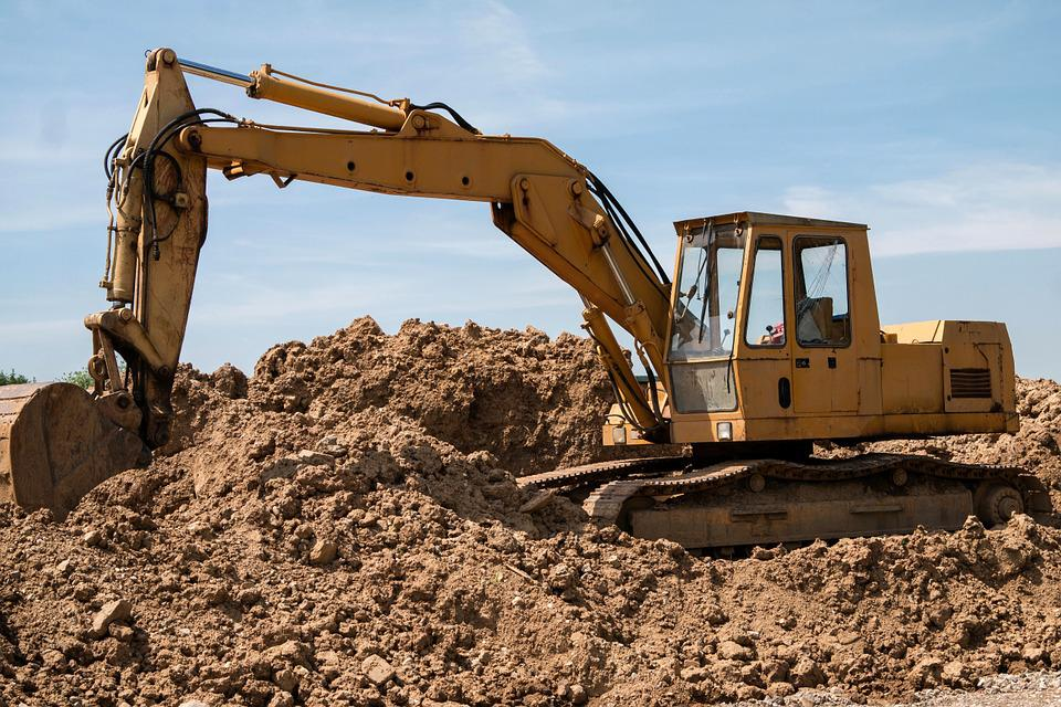 Excavators, Site, Vehicle, Construction Work